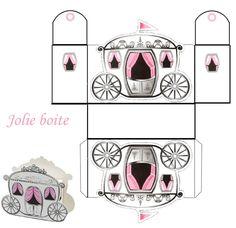 Eu Amo Artesanato: Princesas com moldes Cinderella Party, Disney Princess Party, Printable Box, Printables, Paper Box Template, Diy And Crafts, Paper Crafts, Diy Box, Paper Models