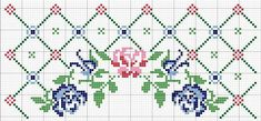 Today I bring you the Barrado Arco de Rosas Kitchen Game graphic with B . Simple Cross Stitch, Cross Stitch Rose, Cross Stitch Borders, Cross Stitch Flowers, Counted Cross Stitch Patterns, Cross Stitch Charts, Cross Stitch Designs, Cross Stitching, Cross Stitch Embroidery