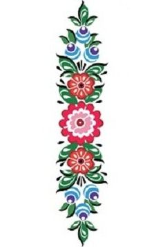 Folk Gorodets painting from Russia. Floral pattern.