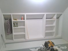 From My Love 2 CreateSlanted Wall built-ins, with Hidden Storage