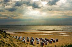 Katwijk aan zee beach, The Netherlands