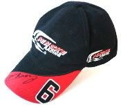 Autographed Sam Hornish Jr., hat former Indy 500 champion.