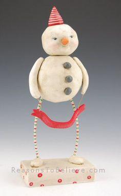 cute paper clay snowman