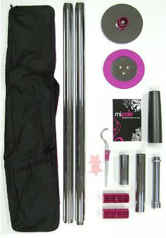 MiPole Pole Dance Stripper Pole Kit Fully Portable X The MiPole is a portable pole dancing kit, designed to let you have lots of fun, work out, and feel sexy at the same time. The MiPole Professional Dance Pole Kit has everything you need to pole d. Dance Gear, Pole Dance Moves, Pole Dancing, Portable Dance Pole, Stripper Poles, Dance Training, Exotic Dance, Sport, Kit