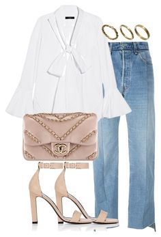 """""""Untitled #2636"""" by theeuropeancloset on Polyvore featuring Vetements, E L L E R Y, Yves Saint Laurent, Chanel and Made"""