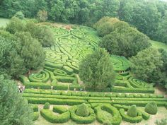 Tiszadob, Andrássy castle, hedge maze. by ferengra