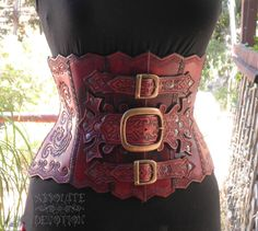 One of a Kind Steampunk Hand Tooled Hard Leather Underbust Corset Armor - Ready to Ship - Absolute Devotion by AbsoluteDevotion on Etsy https://www.etsy.com/listing/183213033/one-of-a-kind-steampunk-hand-tooled-hard