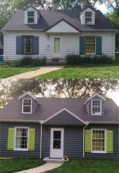 Sherwin williams grizzle gray 7068 exterior pinterest grey house colors and house for Grizzle grey sherwin williams exterior