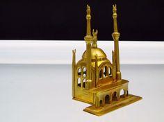 Vintage Brass Mosque Masjid Islamic Architecture Religious Building Maquette