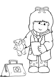 Kid Women Doctor Coloring Pages