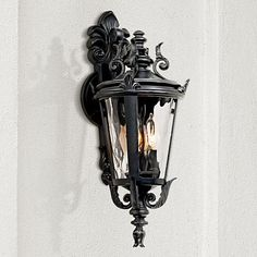 Casa Marseille™ Black Outdoor Wall Light