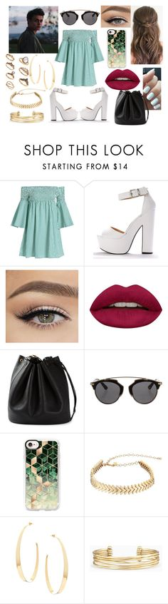 """Spring Afternoon Date With Jonah Marais"" by shayma-sheikh ❤ liked on Polyvore featuring Huda Beauty, SPECIAL DAY, Hermès, Christian Dior, Casetify, Rebecca Minkoff, Lana, Stella & Dot, whydontwe and jonahmarais"