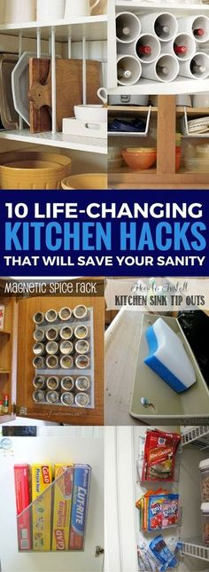 DIY Kitchen Organization Ideas For The Home - The cheapest and BEST ways to organize your kitchen that actually works! Totally love these home and organization hacks.