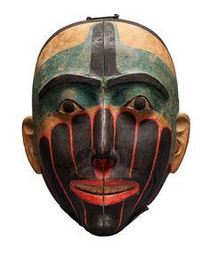 Mask, attrib. to Simeon Stilthda (c. 1799-1889), Haida  Photo: Denis Finnin, courtesy of American Museum of Natural History