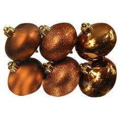 Onion Ornament in Chocolate Brown (Set of 6)