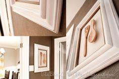 Wooden spoons framed