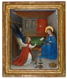 German Master (Upper Rhine) <br /> The Annunciation to the Virgin Mary
