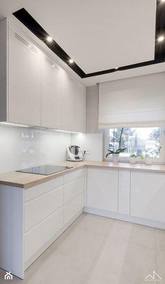 segment, Sokołów Podlaski 150 m2 - Średnia otwarta kuchnia w kształcie litery l z oknem, styl minimalistyczny - zdjęcie od MANEKINEKO - homebook