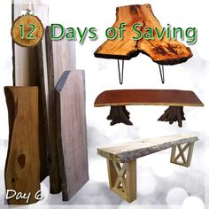 🎄 12 Days of Savings! ~ Day 6 🎄  Save 15% Now thru December 29th on all things Live Edge!  Take our Live Edge Slabs and create what you want!  Entry Tables, Coffee Tables, Desks or Benches. Maybe even a headboard. #agiftthatwilllast #realwood #sale #gainesville #merrychristmas #12daysofsavings  Day 1 - Table & Chairs = 20% Day 2 - Toy Boxes = 20% Day 3 - Sofas = 15% & Futons = 10% Day 4 - Occasional Tables = 20% Day 5 - Entertainment = 20% Day 6 - Live Edge Slabs = 15%