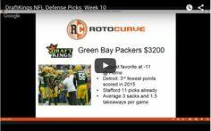 DraftKings NFL Picks Week 10 – Top DEFENSE Options