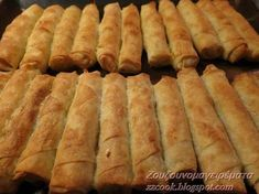 Τρώγονται δυό-δυό!!! Νόστιμα τραγανά μπουρέκια για όλες τις ώρες! Μπορούμε να τα ετοιμάσουμε από τηνπροηγούμενημέρα και ... Yogurt Recipes, Sweets Recipes, Greek Recipes, Desserts, Greek Cooking, Easy Cooking, Cooking Recipes, Food Network Recipes, Food Processor Recipes