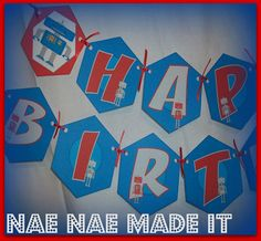 Robot Party  Birthday Banner
