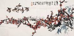 Plum Blossom with Bamboo & Birds