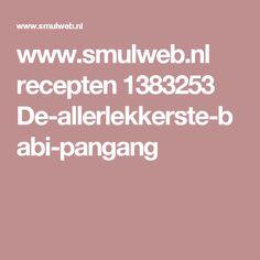 www.smulweb.nl recepten 1383253 De-allerlekkerste-babi-pangang