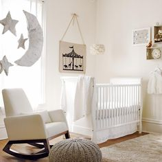 To compliment the furnishings and accessories you include within the room it's best to stick to a very neutral and clean colour palette of creams, taupes, brown or greens as this will also create a very visually bright, soft and calming atmosphere  for both yourself and your baby.