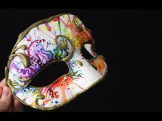 DIY Watercolour Masquerade Mask