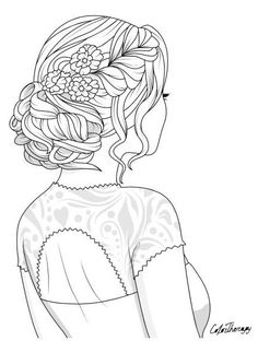 Tumblr Coloring Pages, People Coloring Pages, Horse Coloring Pages, Colouring Pics, Cool Coloring Pages, Adult Coloring Pages, Coloring Books, Embroidery Stitches Tutorial, Embroidery Art