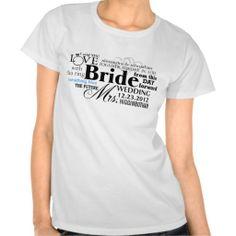 Wedding T-shirt, #Wedding #Bride #Shirt