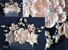 Decoración Tsumami Feeds kanzashi Peines foto 2