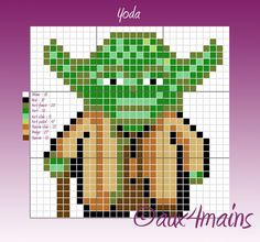 Yoda Star Wars hama perler pattern by aux4mains