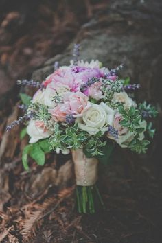 A bouquet for a forest wedding