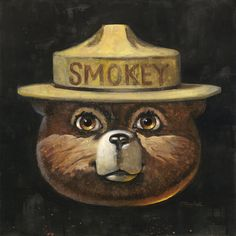 Smokey Bear by Thomas Webb Officially Licensed, Signed, Limited Edition Fine Art Print