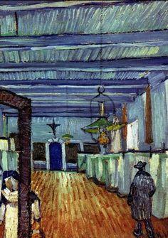 Ward in the Hospital in Arles (detail), Vincent van Gogh 1889 -admittedly OBSESSED! Finally found the painting. Vincent Van Gogh, Van Gogh Art, Art Van, Rembrandt, Monet, Desenhos Van Gogh, Van Gogh Pinturas, Van Gogh Paintings, Dutch Painters