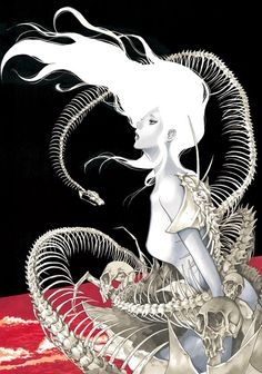 "New Art by ""Bakuman"" Manga Author Takeshi Obata for Chiaki Kuriyama's Shingetsu Roudokukan."
