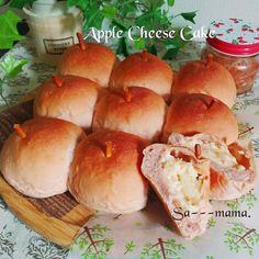 リンゴのチーズケーキ風ちぎりパン♥自家製ジャムで♥