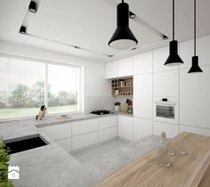 House plans with porch and big kitchen modern new interior design scandinavian home cute lovely not s Open Plan Kitchen Living Room, Kitchen Room Design, Big Kitchen, Modern Kitchen Design, Kitchen Interior, Kitchen Decor, Cuisines Design, Apartment Kitchen, Kitchen Countertops