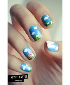 Easter nail art mani #easter #nailart #mani #nails #polish