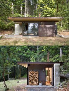 P i l k k e i t ä: syksyn sisustuslista tiny house cabin, tiny cabins, tiny house living, Simple House Design, Minimalist House Design, Tiny House Design, Minimalist Home, Modern House Design, Prefab Cabins, Tiny Cabins, Tiny House Cabin, Tiny House Living