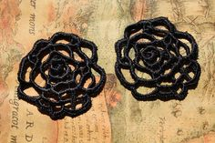 2 pcs Lace Earrings Materials Zakka Sew On by LaceDecoration, $1.59