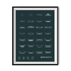 Auto Icon Screen Print Series: Aston Martin