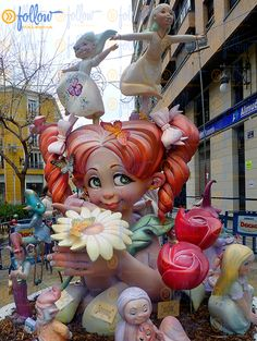 The children are an important part of the Fallas festival and they also have their own monuments. They are much smaller but are also true works of art with a special charm.  http://followvalencia.com/fallas2015/  #Fallas #Fallas2015 #Valencia #Spain #festival #monuments #ninots #fallasfestival