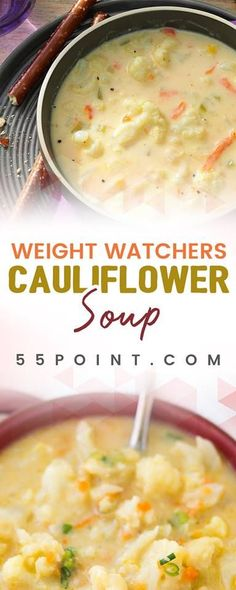 WEIGHT WATCHERS CAULIFLOWER SOUP ONLY 4 POINTS!