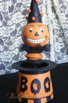 Jack In A Hat Halloween Folk Art Decor Bethany Lowe Designs #BethanyLowe #Figurine