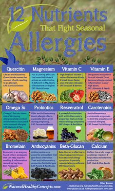 Foods-that-fight-allergies infographic  Learn more about sinus relief here: tampabaysinuscenter.com
