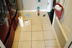 i should be mopping the floor: Dying Grout Tutorial