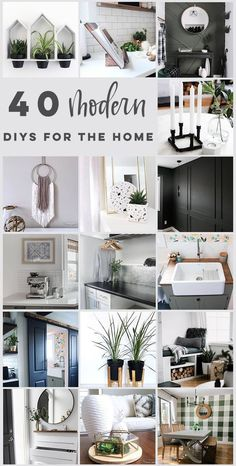 Amazing budget-friendly DIY projects for the modern home. These easy modern home decor ideas can transform the look of your home. They are cheap projects that don